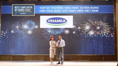 Vinamilk được bình chọn nhà tuyển dụng hấp dẫn nhất đối với sinh viên Việt Nam năm 2020